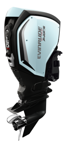 150 H.O. Evinrude E-TEC G2 - Ice Blue Panels with Black Accents (2)